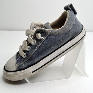 Converse All Star Kids Blue Shoes Size 9